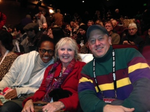 Actor Loren Fenton, Darla Bartos and Phil Bartps, my son, at Sundance 2014.